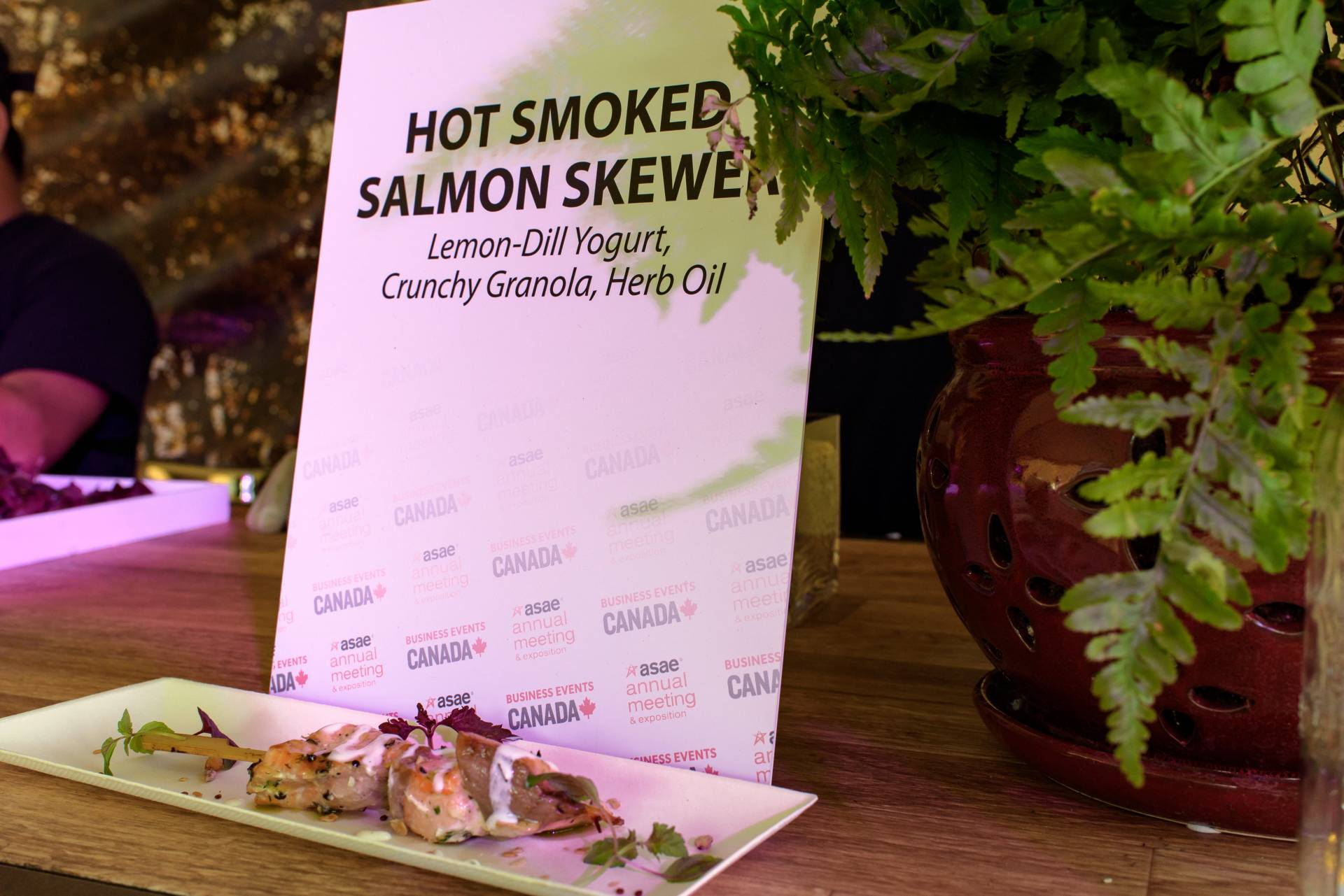 Hot Salmon Smoked Skewers by Daniel Et Daniel Catering & Event Planning in Toronto