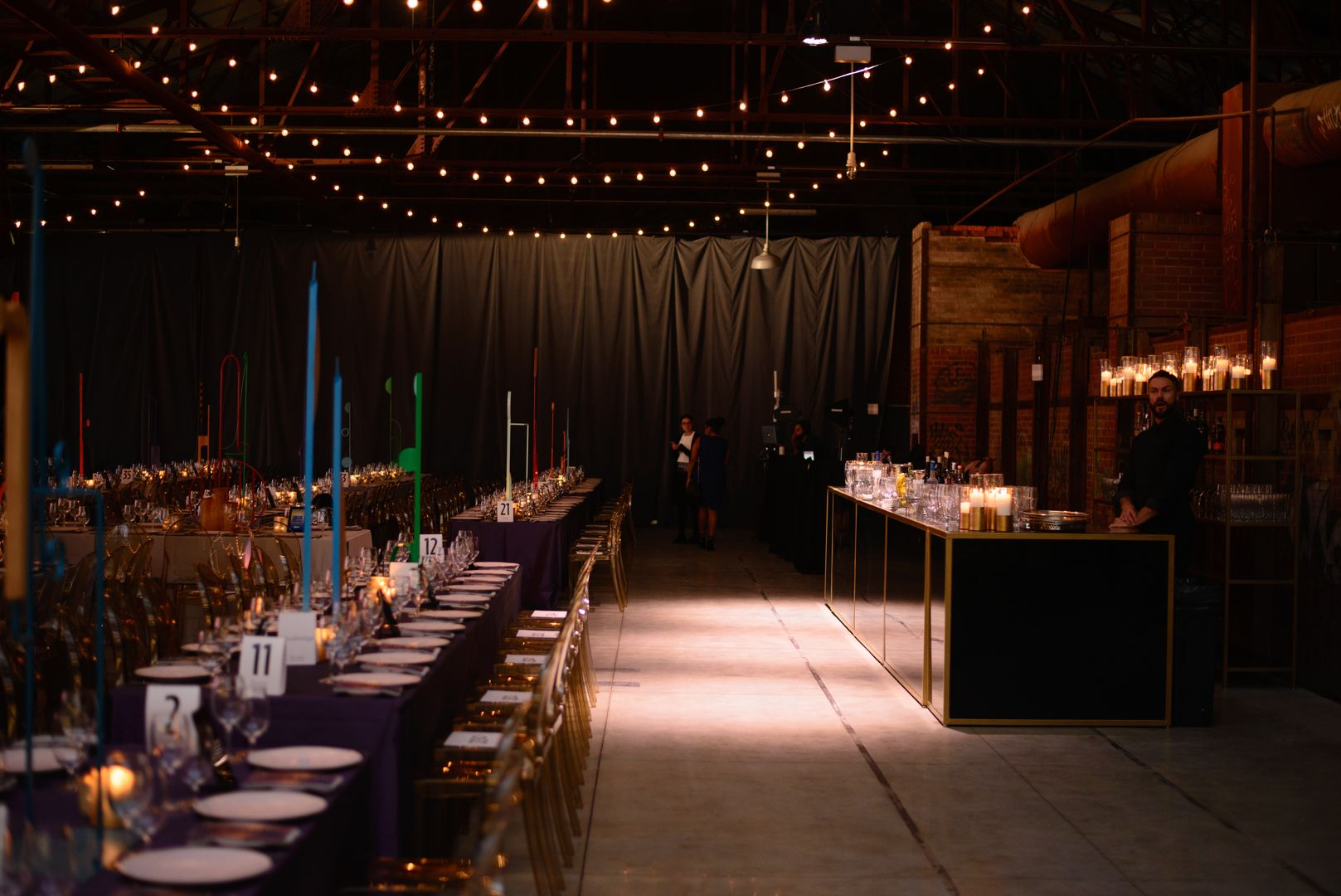 Table Setting at Evergreen Brick Works, Catering at Evergreen Brick Works