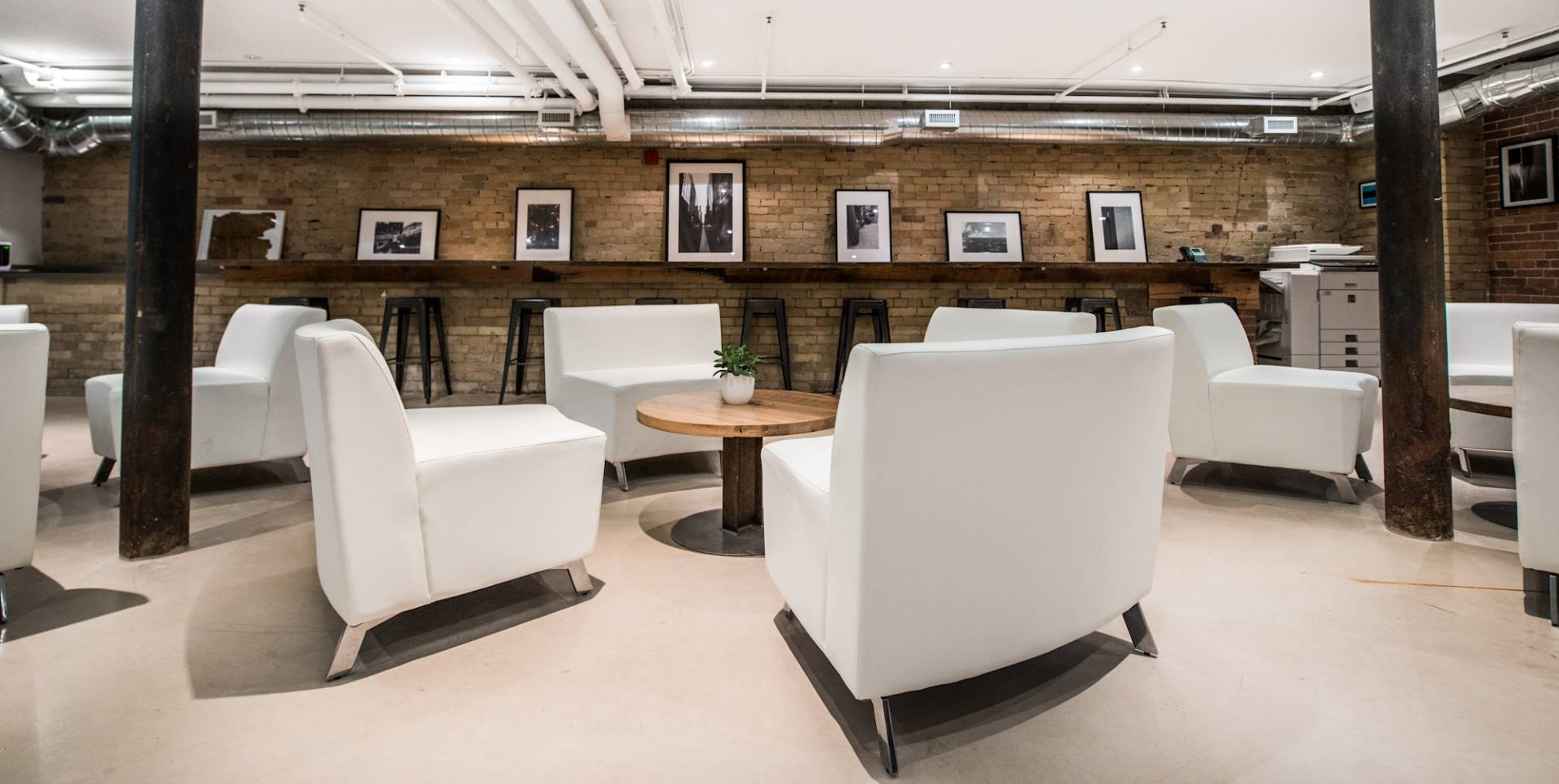 Venue Main Space, Soft Seating and wooden bar