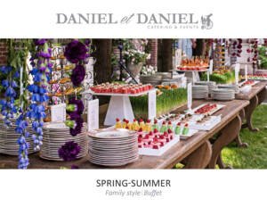 Toronto Catering Menu - Family Style and Buffet Menu for Spring and Summer