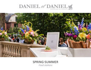 Toronto Catering Menu Food Stations for Spring and Summer