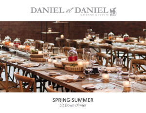 Toronto Catering Menu Plated Dinner for Spring and Summer