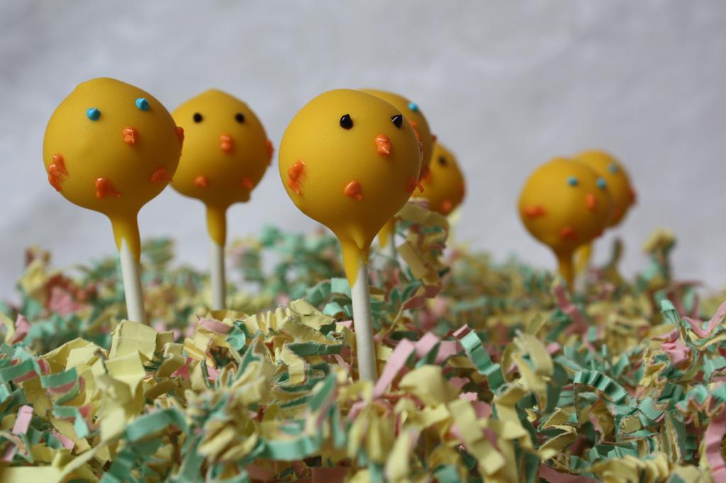 Chickadee Cheesecake Lollipops