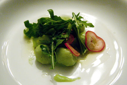 The Salad Course: Rocket Gnocchi and Matchbox Garden Radish