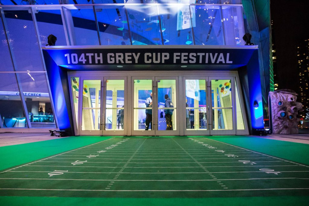 104th Grey Cup festival entrance at Ripleys